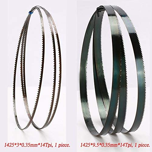 "ZDX-MGGJ, 8"" Sägebänder 1425mm X (Breite: 3 mm, 6,35 mm, 9,5 mm) X 6 oder 14Tpi, Holzverarbeitung Sägebänder Cut Curve (Mix-Packung) (Color : Package F)"