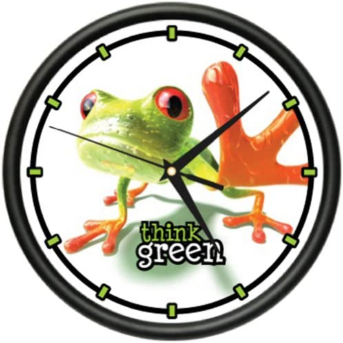 Frog 1 Wall Clock Green Frogs Art Animal Decor Toad Gift