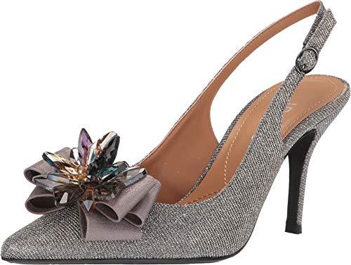 Pewter Glitter Footwear - J. Renee Women's Denyell Pewter Glitter 9.5 M US