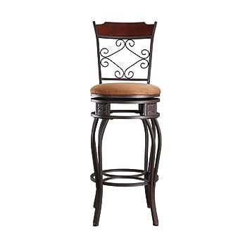 Chaise de bar style rétro en fer forgé pivotante chaise ...