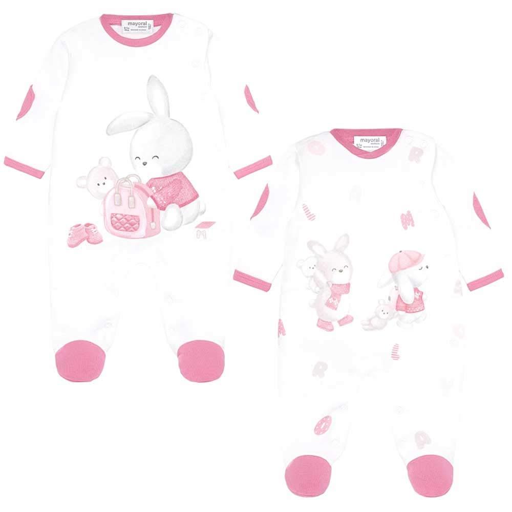 Mayoral Set 2 Pijamas Bebe ni/ña Rosa