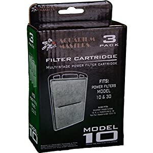 Replacement Aquarium Carbon Filter Cartridge for Whisper Power Filter 10, E, J, MicroFilter & 10i, & The Old Top Fin Power Filter 10 and Old 15 & Aquarium Masters Model 10 & 30!