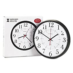 Howard Miller : Alton Auto Daylight Savings Wall Clock, 14in, Black, 1 AA Battery -:- Sold as 2 Packs of - 1 - / - Total of 2 Each