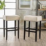 Great Deal Furniture Chantal Linen/Fabric Bar/Counter Stools
