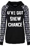 BodiLove Women's Cute Ugly Comfy Christmas Holiday Themed Sweatshirt Black 1XL