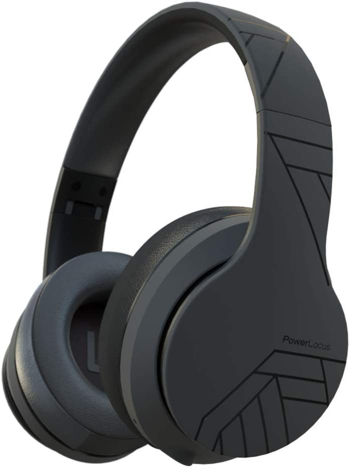 PowerLocus P6 - Auriculares Bluetooth Inalámbricos de Diadema, [20H de Duración] Super Bass Hi-Fi con Sonido Estéreo Cascos Bluetooth con Micrófono Inalámbrico y con Cable para Móviles,Tablets,PC,TV