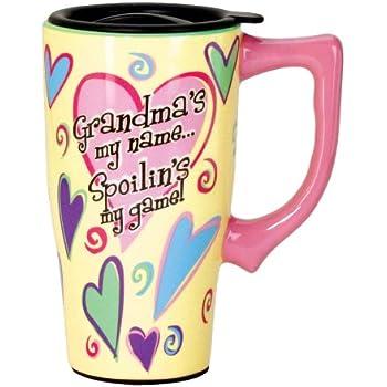 Amazon Com Spoontiques 11782 Grandma Ceramic Travel Mug