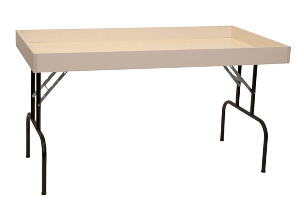 Retail Display Dump Folding Table 30''W x 60''L Ship Knockdown Almond Lot of 2 NEW