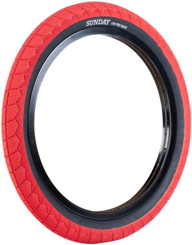 SUNDAY BIKES Current 20 V2 Color Rojo y Negro Neum/áticos para BMX 20