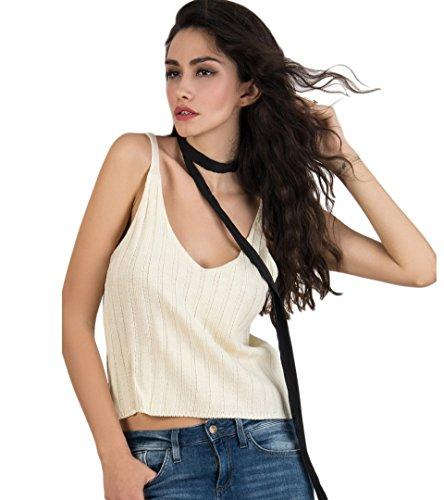 Persun Womens V neck Spaghetti Strap
