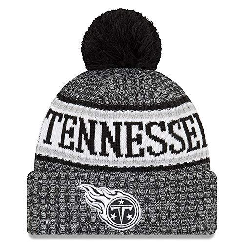 New Era Knit Tennessee Titans Blue On Field Sideline Sport Knit Winter Stocking Beanie Pom Hat Cap 2015