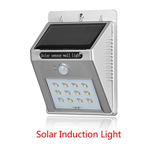 Silver Style 12-LED Solar Motion Sensor Security Light Wi...