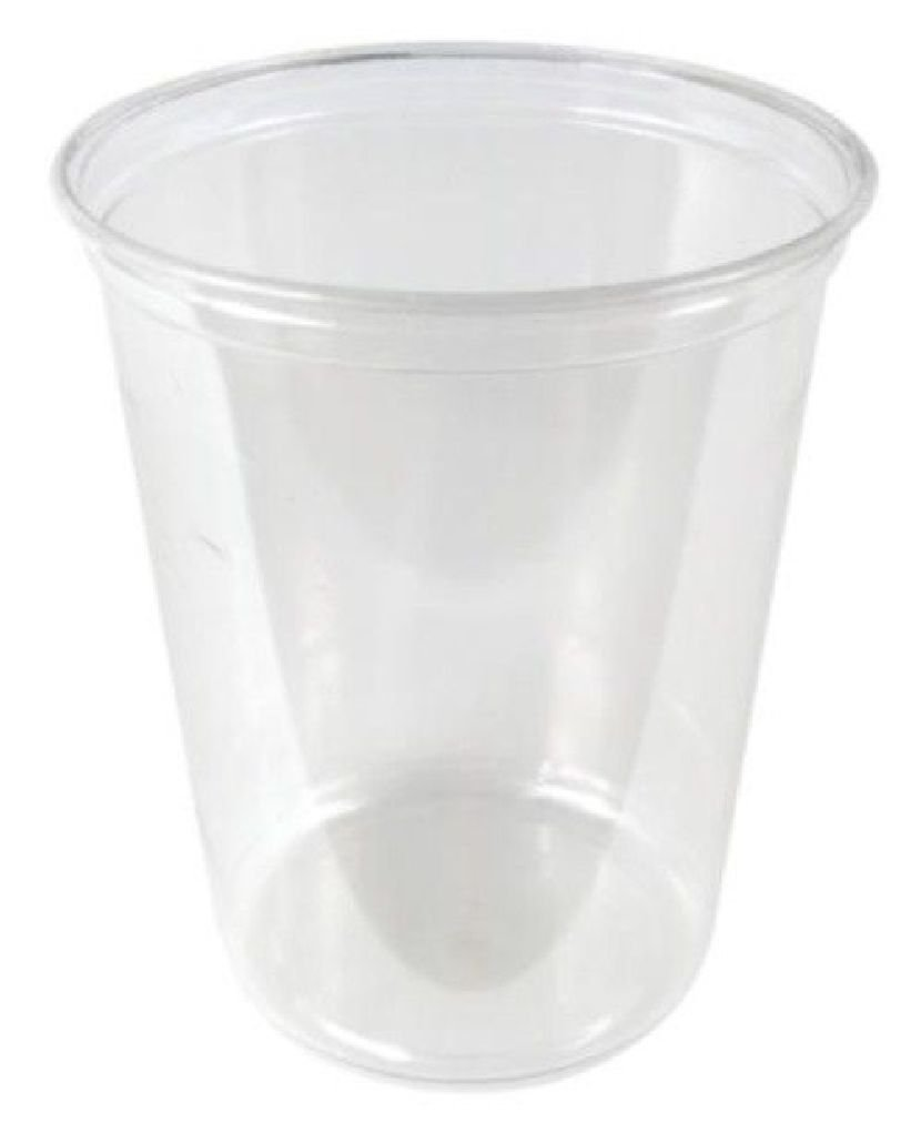 32 oz. Round Plastic Clear Deli Food Storage Container Cup - Cup Only or w/Lids