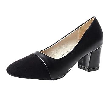 JIANGfu Damen Schuhe, Spitzer Pumps Elegante Schuhe High Heels ...