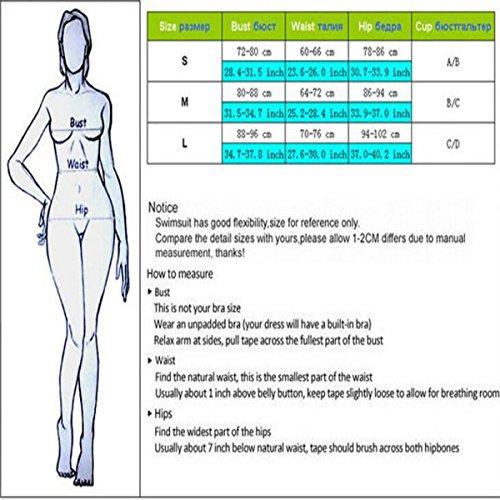 TAOZHN Trajes De Baño Mujer Bikini Deportes Acuáticos Traje De Baño Delgado Noble Bikini De Alta Calidad Floral Tight color3