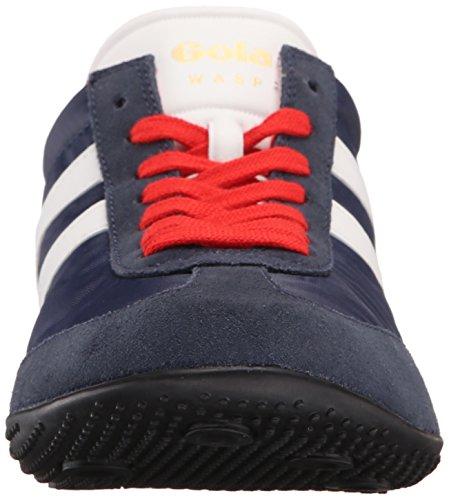Gola Wasp - Zapatillas Hombre Azul - Blue (Navy/White/Red)