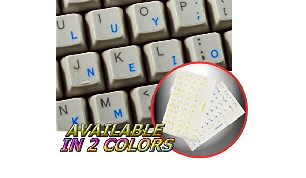 4ee5240c873 COLEMAK STICKER FOR KEYBOARD WITH BLUE LETTERING TRANSPARENT BACKGROUND:  Keyboards: Amazon.com.au