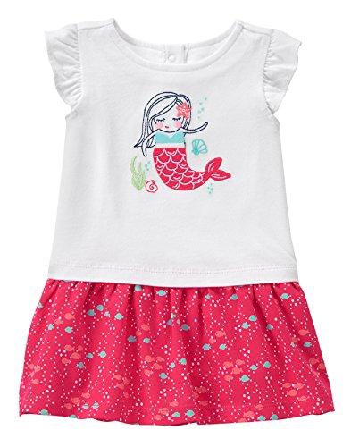 Gymboree Baby Toddler Girls' Mermaid Graphic Dress, Multi, 18-24 (Mermaid Toddler Dress)