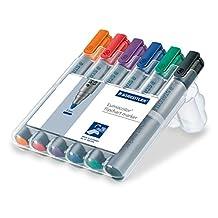 Staedtler Lumocolor 356 WP6 Flip Chart Marker - Wallet of 6 Assorted Colours
