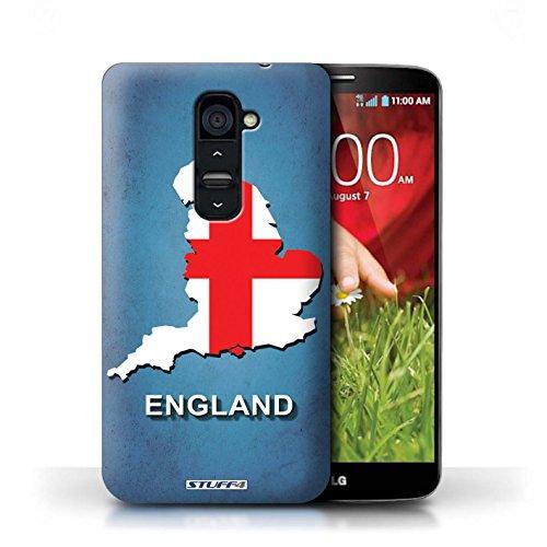 Kobalt® Imprimé Etui / Coque pour LG G2 / Angleterre/Anglais conception / Série Drapeau Pays