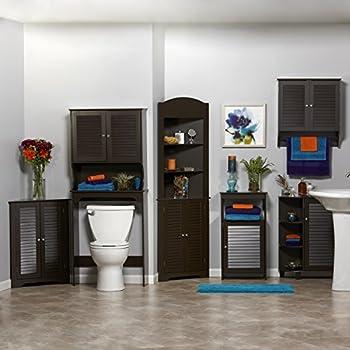 RiverRidge Home Ellsworth 3-Shelf Corner Cabinet, Espresso