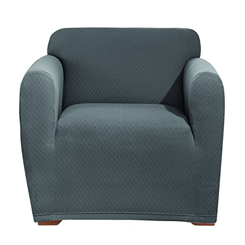 (SureFit Stretch Avondale 1-Piece - Chair Slipcover - Gray)