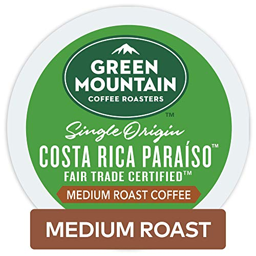 Green Mountain Coffee Roasters Costa Rica Paraiso Keurig Single-serve K-cup Pods, Medium Roast Coffee, 72 Count (6 Boxes of 12 ()