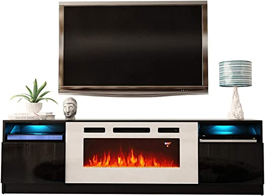 Amazon Com Meble Furniture Rugs York Wh02 Electric Fireplace
