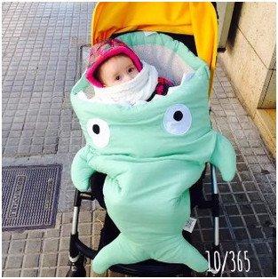 Amazoncom Pc Envelope Newborns Baby Shark Sleeping Bag For - Sleeping bag shark