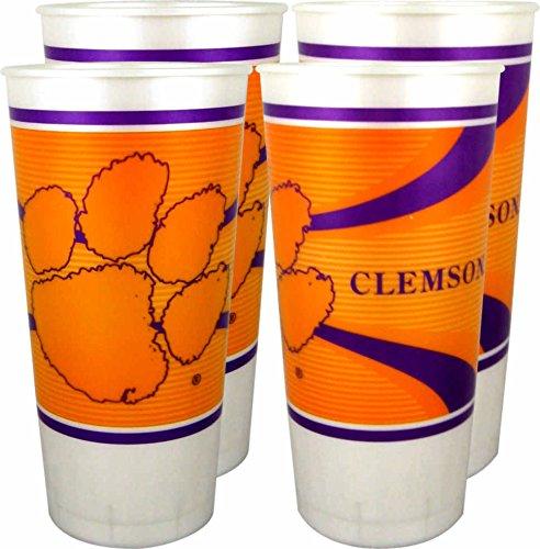 Clemson Tigers 24 oz Souvenir Cups - 4/pkg.