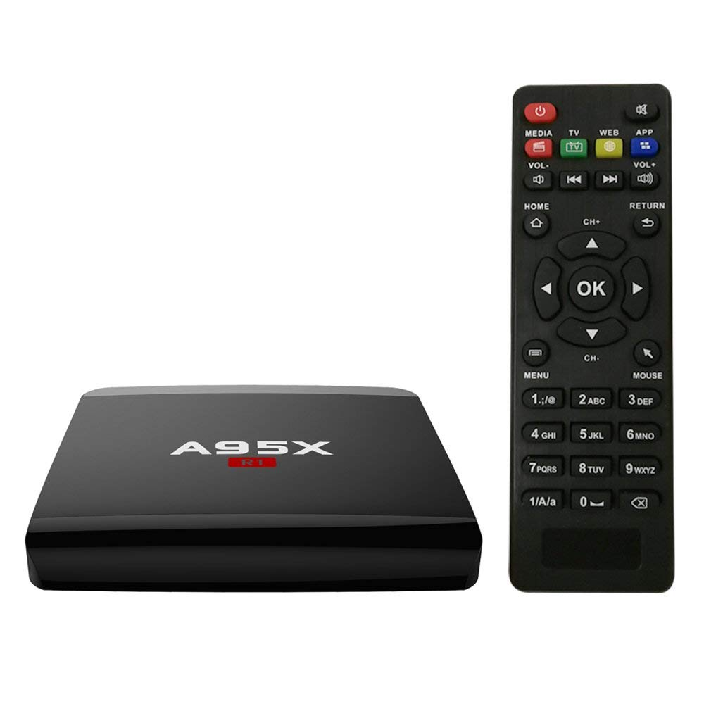 Walmeck Smart Android 7.1.2 TV Box,A95X R1,Amlogic S905W Quad Core H.265 VP9 Mini PC,DLNA Miracast Airplay WiFi LAN HD Media Player US Plug by Walmeck
