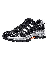 Eclimb Work Men's Lace Up Slip-Resistant Steel-Toe Work Shoe