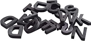 Lzttyee Decorative 120pcs/1 set Magnetic EVA Alphabet Letters for Refrigerator/White Board (Black)