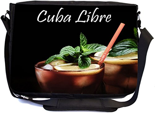 Rikki Knight Cuba Libre Design Premium Messenger Bag - School Bag - Laptop Bag - with padded insert for School or Work - With Matching Pencil Case