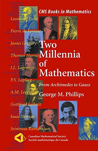 Two Millennia of Mathematics: From Archimedes to Gauss (CMS Books in Mathematics)
