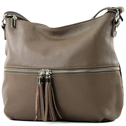 T159 Leather modamoda ital de Leather bag bag Brown Shoulder bag Leather Chocolate nqzaA8nB
