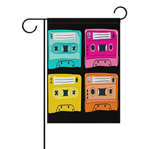 "LEISISI Vintage Mixtapes Garden flag 28""X40"" Two Sided Yard"