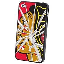 Pangea Brands IP4L-NHL-CB-GLA NHL Chicago Blackhawks iPhone 4/4S Broken Glass Lenticular Case
