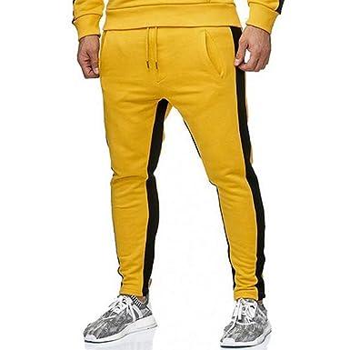 Vectry Pantalones Hombre Moda Hombre Deporte Pure Color Casual ...