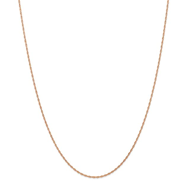 Jewelry Necklaces Chains 14k Rose Gold 1.15mm Carded Cable Rope Chain