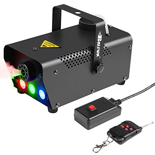Fog Machine With LED Lights Baisun 400W Wireless Remote Control Smoke Machine For Wedding Christmas Halloween Birthday Party ()