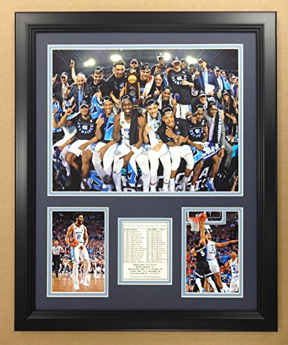 (Legends Never Die NCAA North Carolina Tar Heels 2016-2017 National Champions Framed Double Matted Photos, Podium, 18