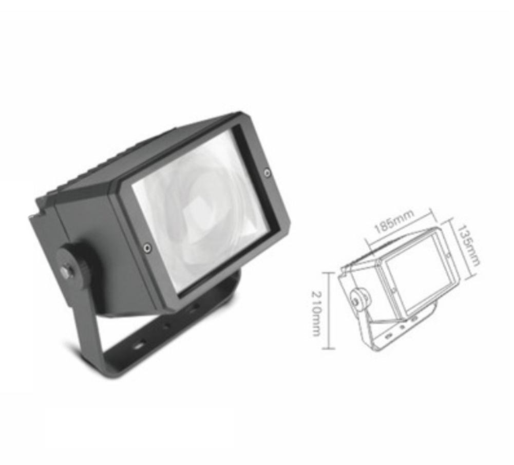 led flood light 50w spotlight remote range waterproof cast
