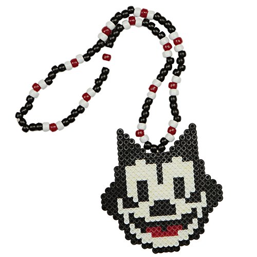 Felix The Cat Kandi Necklace, Perler Necklace, Rave Beaded Necklace -