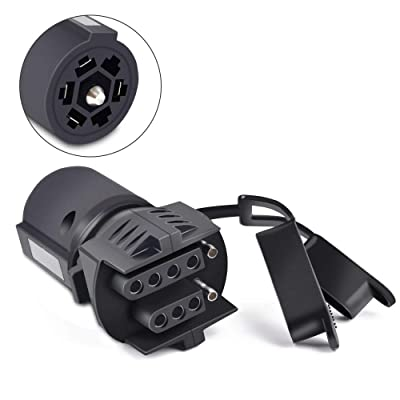 COROTC 7 Way to 4 Way 5 Way Trailer Light Adapter, 7 Pin Round to 4 Pin 5 Pin Flat Blade Trailer RV Boat Connector Plug: Automotive