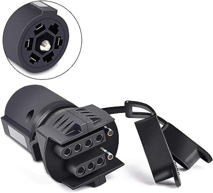 Amazon.com: COROTC 7 Way to 4 Way 5 Way Trailer Light Adapter, 7 Pin Round  to 4 Pin 5 Pin Flat Blade Trailer RV Boat Connector Plug: AutomotiveAmazon.com