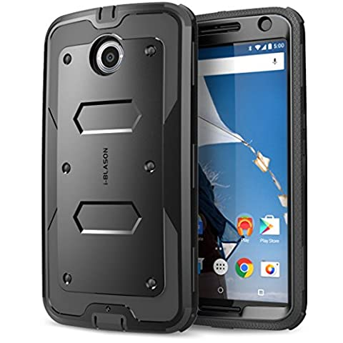 Nexus 6 Case, [Heave Duty] **Slim Protection** i-Blason Google Nexus 6 Phone Case Armorbox [Dual Layer] Hybrid Full-body Protective Case with Front Cover and Built-in Screen Protector / Impact Resistant Bumpers Cover for Motorola Nexus 6 Phone (Nexus 6 Cell Phone Case)