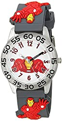 Marvel Boy's 'Iron Man' Quartz Plastic Casual Watch, Color:Grey (Model: WMA000037)