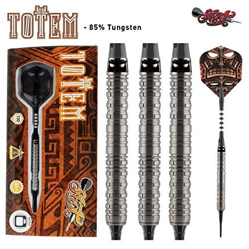 Shot! Darts Totem-Soft Tip Dart Set-Centre Weighted-85% Tungsten Barrels (18)