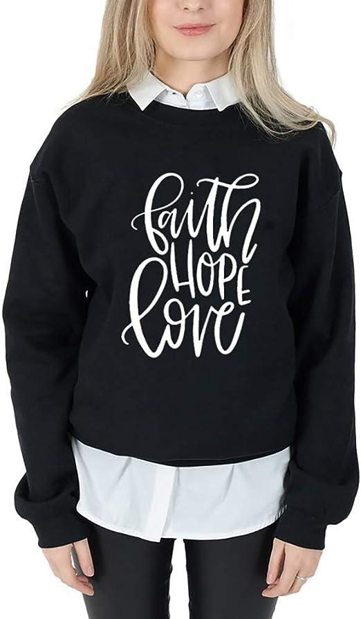Womens Sweatshirt Casual Love Letters LongSleeve Sweatshirt Pullover Tops Blouse